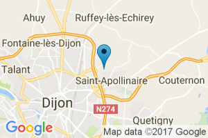 Google Map of 24 rue de la redoute 21850 saint-apollinaire